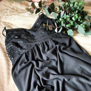 AE Gray Sequin Detail Empire Waist Dress